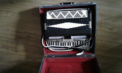NOBLE Accordion Vintage in original case Antique from estate sale plays well
