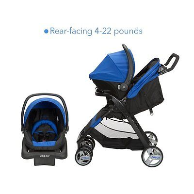 Folding Baby Infant Toddler Newborn Travel System Stroller with Car Seat, Blue