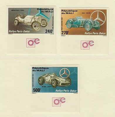 MALI C480-C482 Mint, Never Hinged IMPERFORATE 1983 Paris-Dakar Auto Race