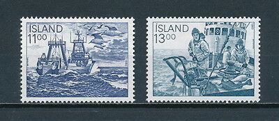 Iceland 575-6 MNH, Fishing Industry, 1983