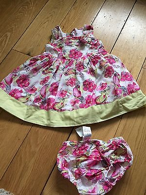 2  X M&S Baby Girl Summer Dresses With Matching Pants Aged 3-6 Months