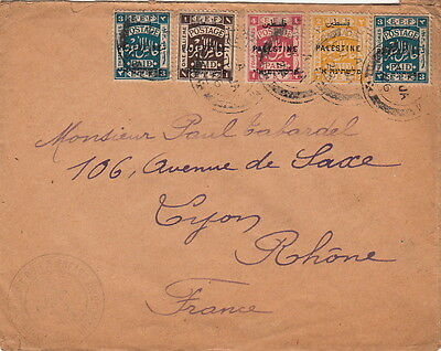 Lettre/Cover Palestine EEF Postage Paid Bethllem >> France