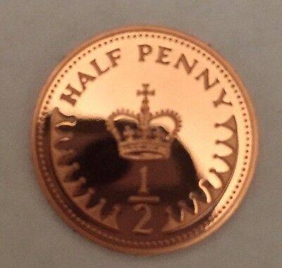1982 Proof Half Penny Pence Coin Unc Uncirculated 1/2p (L4)