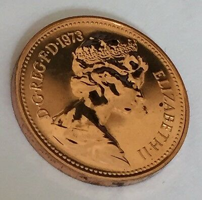 1973 Proof One Penny One Pence Coin Unc Uncirculated 1p (E2)