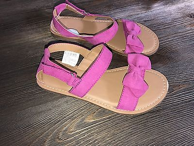 Gap Girls sandals Pink size 1 Kids Bow Rose Violet New Girl