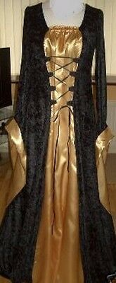 Medieval Gown - Black & Gold