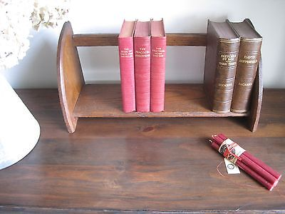 Vintage Oak Book Trough Book Stand Holder