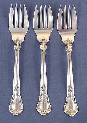Sterling Silver Lot #3 of 3 Vintage Gorham Chantilly Salad Forks, 117.5 grams