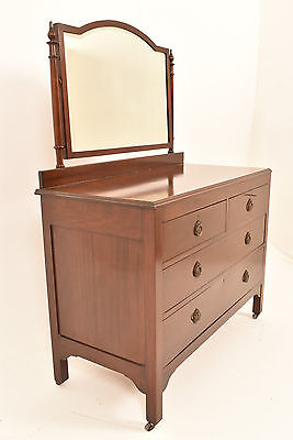 A 20th Century Edwardian Mahogany Dressing Table Chest Of Drawers