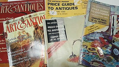 Five Vintage Antique / Art Price Guide Magazines