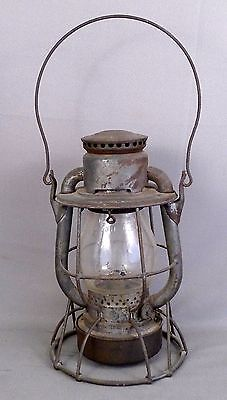 Dietz Vesta Tubular Railroad Lantern with 1896, 1898, 1907 & 1910 Patent Dates