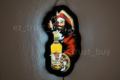 New Captain Morgan Rum Spiced Gold Logo Man Cave LED Neon Sign 14""