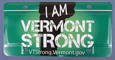 "Vermont (VT) ""I Am Vermont Strong"" Sample License Plate w/ Original Envelope -#5"