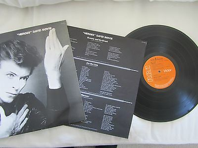 DAVID BOWIE Heroes LP RARE 1977 ORIGINAL A2 / B2 STERLING UK PRESSING & INSERT