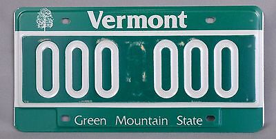 Vermont (VT) Car Sample License Plate 000 000 w/ Original Envelope