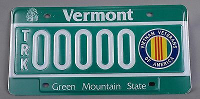 Vermont (VT) Vietnam Veterans of America TRK Sample License Plate, Orig Envelope