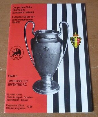 1985 - Liverpool v Juventus, European Cup Final Match Programme.