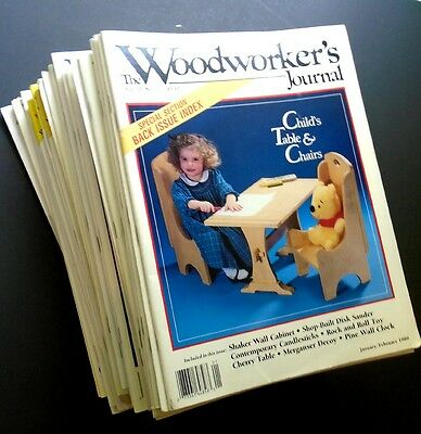 WOODWORKER'S JOURNAL Magazine Lot of 36 Issues COMPLETE 1989 - 1994