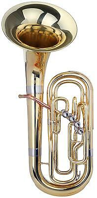 BRASS TUBA BELLFRONT BARITONE WIND INSTRUMENT MARCHING Bb TUNING 4 VALVES & CASE