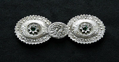 GREEK EPIRUS GENUINE TRADITIONAL HANDMADE SILVER PLATED BELT BUCKLE circa 1950 !