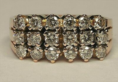 9ct Gold 0.72ct Diamond Cluster Ring Size N 1/2