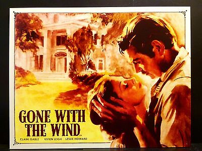 Gone With The Wind TIN SIGN vtg Hollywood Metal Wall Decor Poster