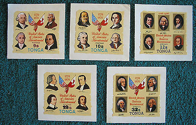 "1976 5 Tonga ""United States of America Bicentennial"" Stamps self adhesive"
