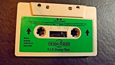 Talking Snoopy Audio Tape P.o.p. Display Tape Works 1986 Worlds Of Wonder