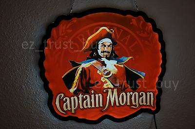 New Captain Morgan Rum Bar Logo Man Cave LED Neon Sign 17""