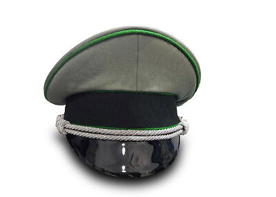 WW2 German Army Officers Mountain Gebirgsjäger Troops Visor Cap Green Piping.