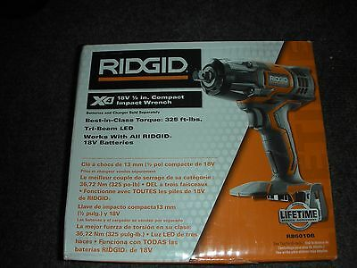 NEW RIDGID X4 18-Volt 1/2 in. Impact Wrench (Tool Only) Cordless Lithium-Ion