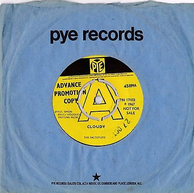 The Factotums - Cloudy - Easy Said, Easy Done - PYE UK psych 7 inch vinyl single