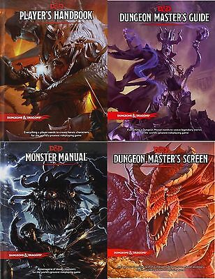 Player's Handbook, Dungeon Master's Guide, Monster Manual and Screen 5th Edition