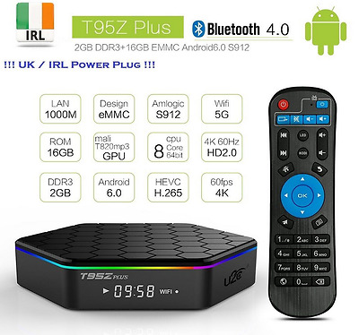 T95Z Plus S912 2GB + 16GB Octa Core Android 6.0 TV Box KODI , Dublin Stock !!!