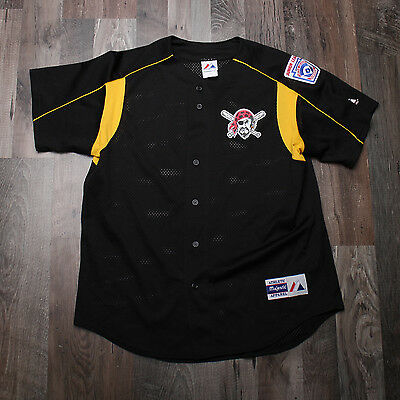Majestic Pirates MLB Baseball USA Jersey Size Large