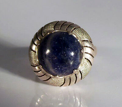 Vintage Woman's Sterling Silver & Lapis Ring -Size 7 1/2