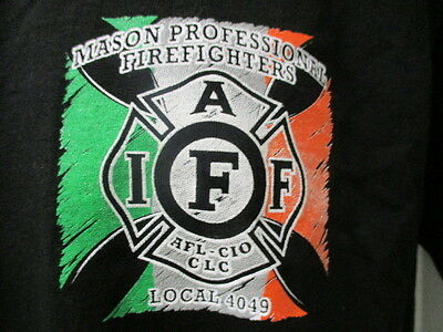 Mason Firefighters L-4049, St. Patrick's Day 2014, Black, S/S, Medium, AWESOME!