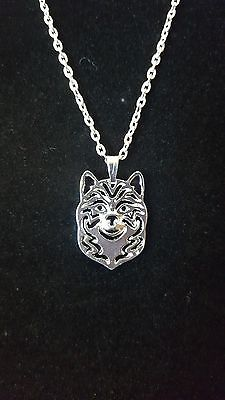 "Shiba Inu Dog Necklace, Pendant, 18"" Chain, Jewelry"