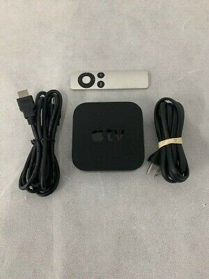 Apple TV 3rd Generation (2013) + Remote & HDMI Cable Used Great Bundle