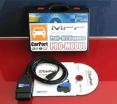 OBD2 KKL CAN UDS Diagnose Interface VW AUDI CarPort Software K+CAN PRO-MODUL VCD