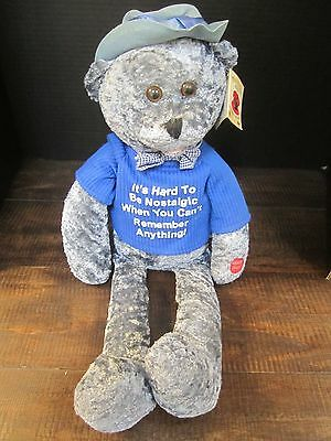 """Chantilly Lane Musical Bear Animated sings """"when Im 64"""" approx. 19"""" with tag"""