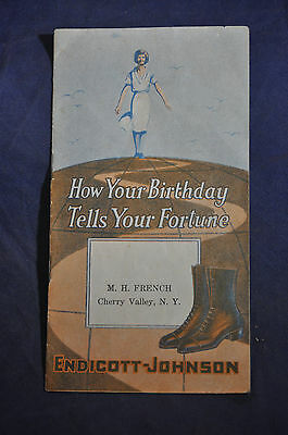 1923 'How Your Birthday Tells Your Fortune' Endicott Johnson Shoes Brochure