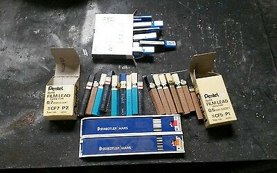 Collection of pencil leads  pilot pentel staedtler