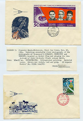 2 Soviet Space FDC's  1964