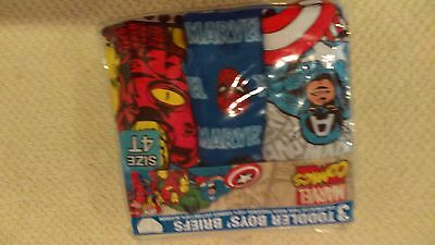 NEW Marvel Comics Toddler Boy's Briefs 3 Pack Size 4T NWT