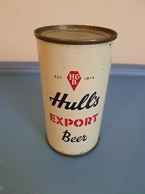 Vtg Hull's Export New Haven Connecticut Established 1872 Flat Top Beer Can GB
