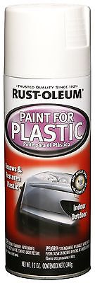 Rust-Oleum Automotive 248650 12-Ounce Paint For Plastic Spray Gloss White