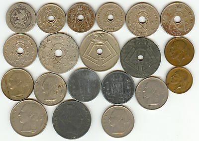 Belgium 1861-1966 A Nice Collection Of 20 Coins!!!