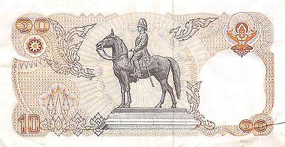Thailand  10  Baht  ND. 1980   series 1 D  sign. # 52  Circulated Banknote