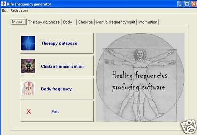 Dr. Rife bio-resonance therapy software